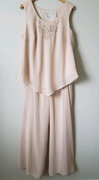 New Chiffon Coldwater Creek Full Leg Pantsuit Size 20W