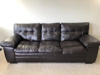 Dark brown Leather couch - Needs to be gone by this weekend Fairfax, 22030