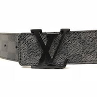 Black leather belt with buckle Surrey, V3Z 2N6