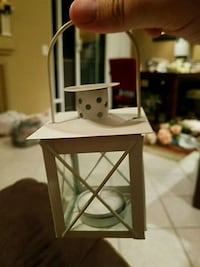 Mini lantern wedding decor. Rancho Santa Margarita, 92688