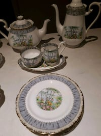 Royal Albert Silver Birch bone China set