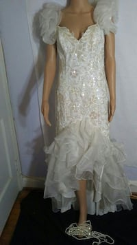 Ladies white sequin Gown Parkville, 21234