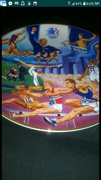 1984 Los Angeles Olympics sports collectors plate Mesa, 85202