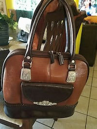 brown and black leather tote bag San Bernardino, 92410