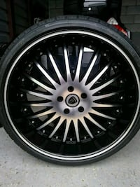 22 inch tires/rims new (5 Lug) District Heights, 20747
