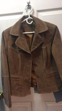 brown leather button-up jacket Bolton, L7E 2S6