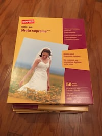 Staples Gloss photo supreme paper - 8 boxes of 50 sheets each Mc Lean, 22102
