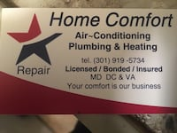 Home Comfort Air-Conditioning Plimbing & Heating business card Oxon Hill, 20745