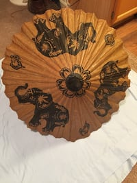 Wood and paper painted parasol Wilsonville, 97070