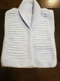 white knitted button-up vest Edmonton, T5Z 3N1