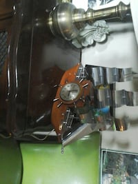 brown and silver analog ship table clock North Saanich, V8L 3Z5