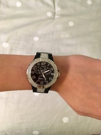 Black and silver guess watch. North Vancouver, V7J