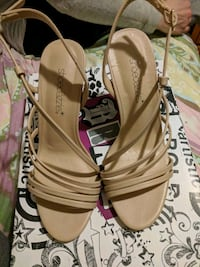Nude Strappy Sandals -never worn