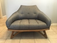 """Mid century modern oversized lounge chair - newly upholstered - Adrian Pearsall for Craft Associates - new condition!  38""""x30""""x30""""   Toronto, M2J 2Z6"""