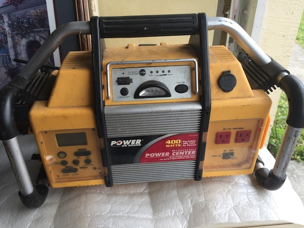 Vector 400 Watt Rechargeable Battery Power Center AM/FM Radio, VEC1029POB