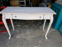 white wooden 2-drawer console table 920 mi