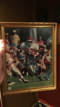 Football player photo with frame Belton, 64012