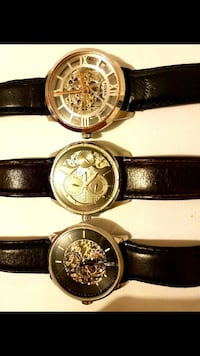 4 Automatic Leather Fossil Watchs