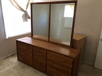 brown wooden dresser with mirror Glendora, 91741