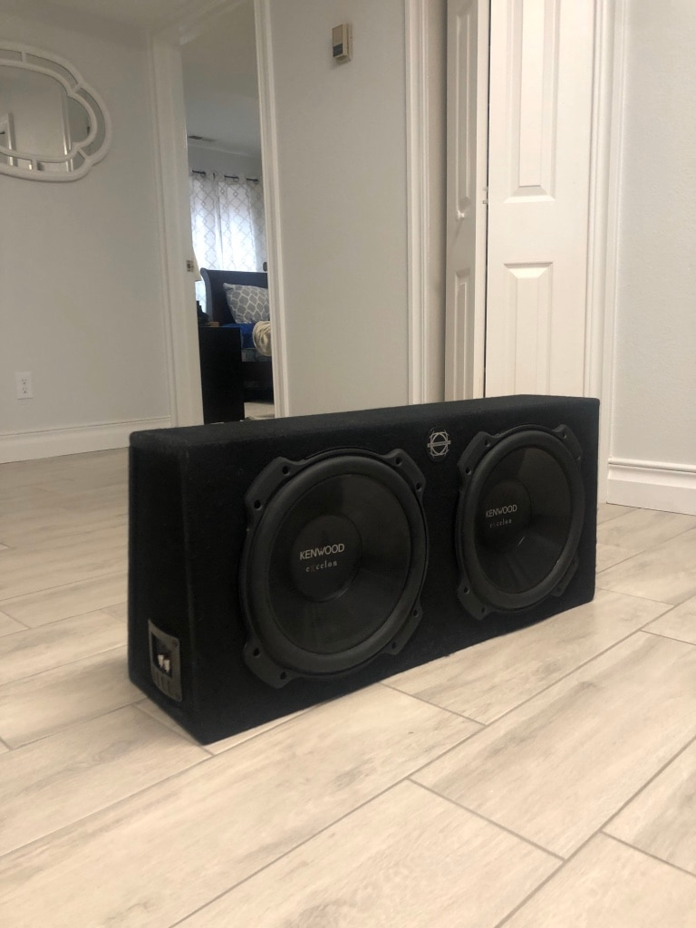 Photo Kenwood Excelon 12inch subs in foco