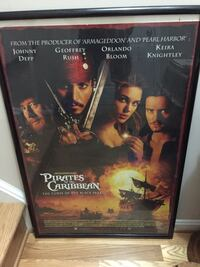 Pirates of the caribbean  poster framed.