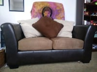 Chocolate Leather Loveseat with Suede Seats New Orleans, 70130