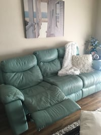 gray leather 3-seat recliner sofa Orlando, 32819