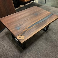 brown wooden framed glass top coffee table Upper Arlington, 43221