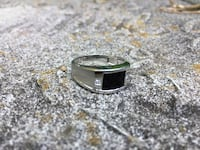 Men's white gold black onyx with diamond accent ring Grimsby, L3M 1R5