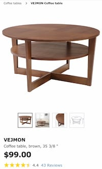 Coffee Table , Brown  纽约市, 10001