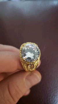 Mens Huge White Sapphire 18K Yellow Gold Filled Ri London, N6P 1P6