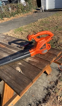 Electric leaf blower with cord.
