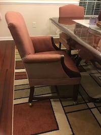 Classic Dining Chairs on Rollers Yorktown