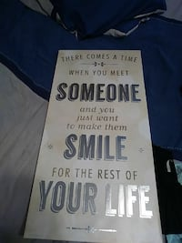 someone and you just want to make them smile wall art Fresno, 93722
