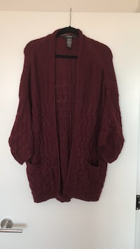 Burgundy Wool Sweater  Vancouver, V6B 0A2