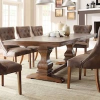 BRAND NEW MARIE LOUISE DINING TABLE AND 6 CHAIRS