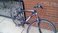black and grey Scott hardtail bicycle