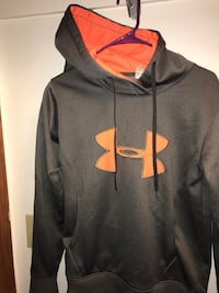 Under armor hoodie hooded sweatshirt medium grey and hunters orange  Omaha, 68164