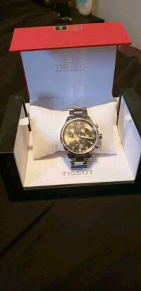 round silver Rolex chronograph watch with link bracelet in box Kitchener, N2C 2N7