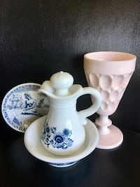 white and blue ceramic pitcher and pitcher Vancouver, V5R 6C4