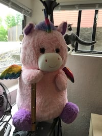 Pink, purple and rainbow huge stuffed animal! Super cute and super soft. Shoreline, 98133