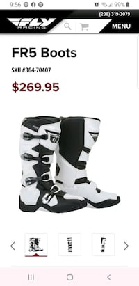 FLY racing FR5 boots size 11