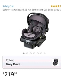 Safety 1st infant car seat  39 km