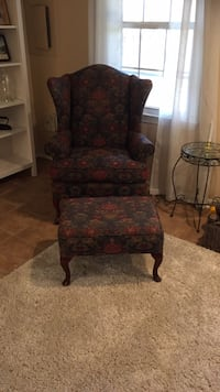 Chair and ottoman included beige fitted cover Springfield, 22152