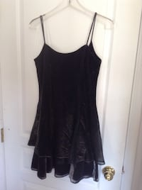 Black spaghetti strap with shine silver glam party dress ( new)