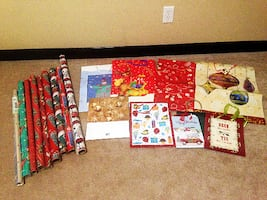 Variety Christmas wrapping paper & gift bags, New!