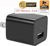 Camera 1080P HD USB Wall Charger hidden spy camera (32GB SD Card included) Motion Activated, Home Security Monitor Camcorder, surveillance camera, No Hole, Batteryless Leesburg, 20176