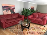 Beautiful red leather sofas Bethesda, 20817