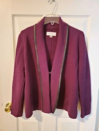 Calvin Klein sweater jacket size L Stephenson, 22656