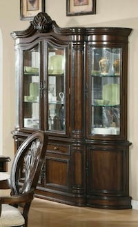 Tabitha Buffet & Hutch with touch lighting
